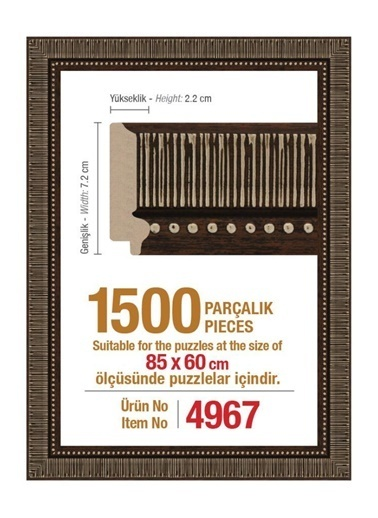 Heidi 1500 Parçalık Puzzle Çerçevesi 60X85 Cm 4967-Educa